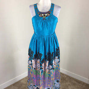 Anthropologie Dresses - Anthropologie S 4 Island Nightfall Silk Maxi Dress